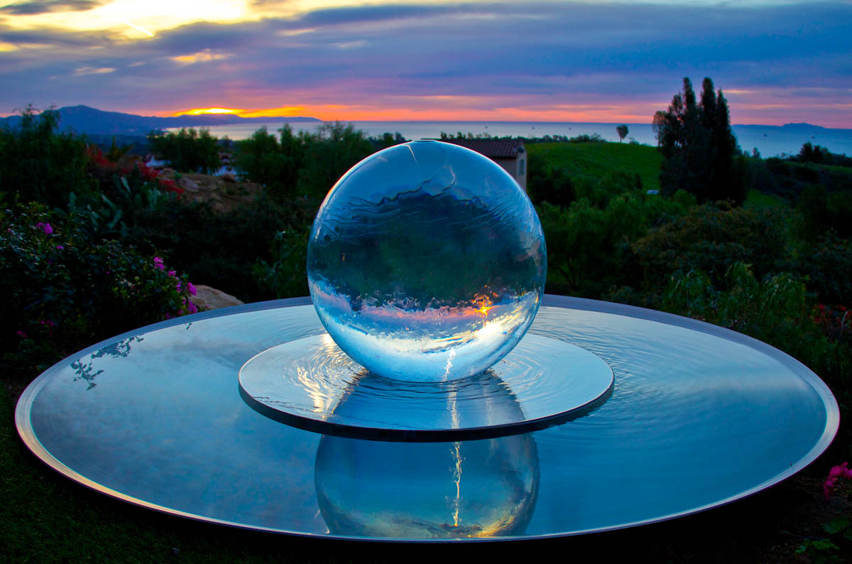 Sphere Fountains Water Features For Your Garden Allison Armour