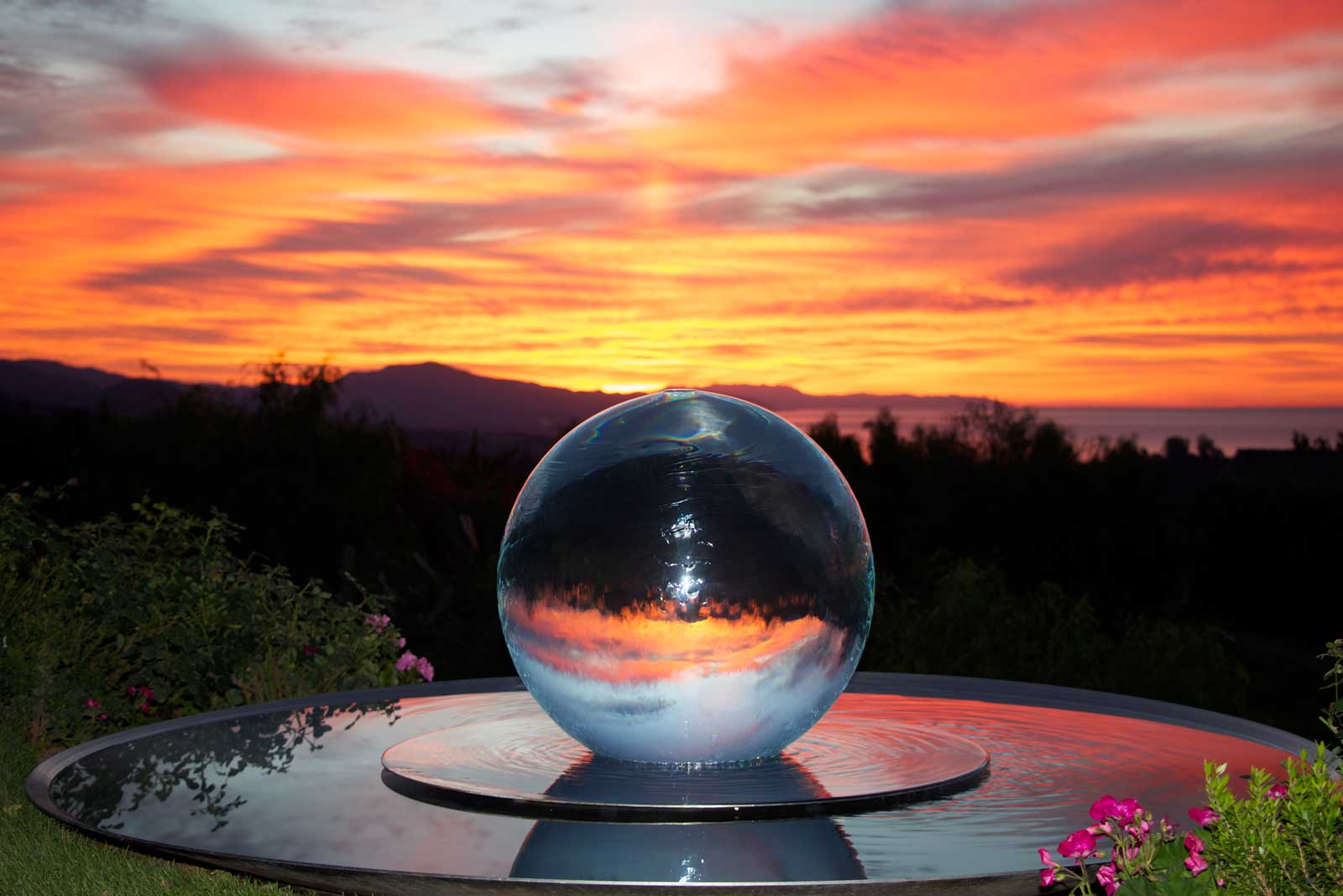 Glass Ball Fountains Glass Sphere Fountains