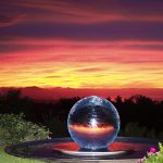 Sphere Fountain at Sunset