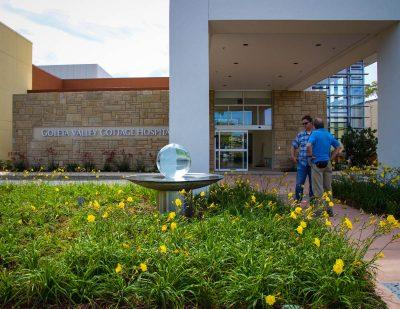 Goleta Hospital Sphere Fountain