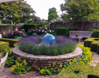 English Garden Sphere Fountain