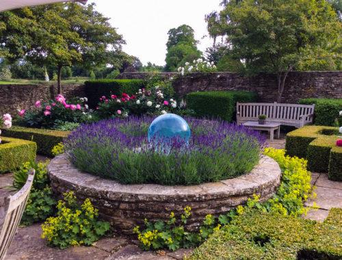 English Garden Sphere Fountain