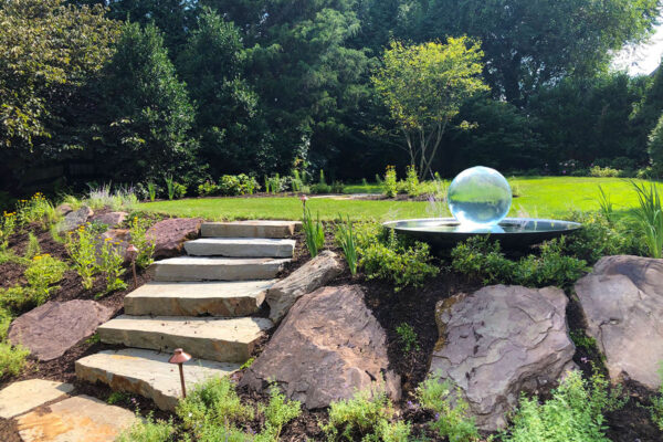 sphere-fountain-stone-steps