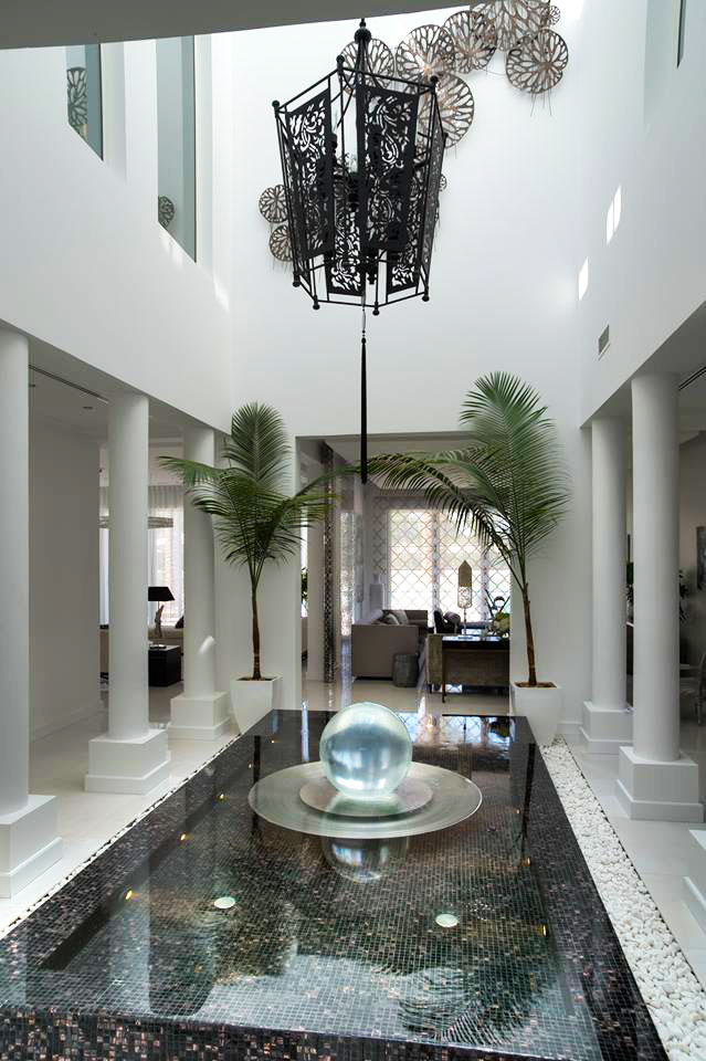 Al barari dubai water features allison armour sphere for Luxury home features
