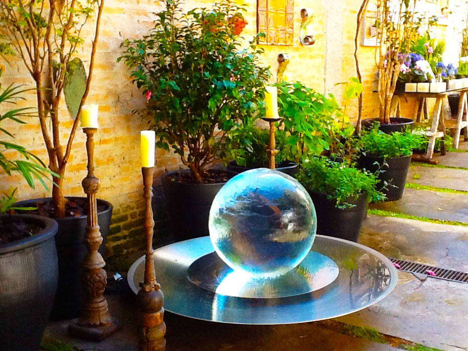 Garden Sphere Fountain